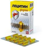 Лецитин Форте 30 капсул для печени, 600 мг